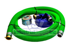 3 Epdm Trash Pump Water Suction W 100 Blue Discharge Hose Pinlug Kit