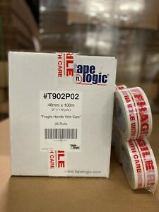 36 Rolls 2 Printed fragile Handle W Care Packaging Carton Sealing Tape