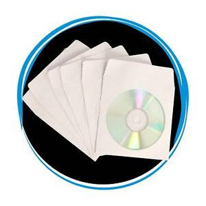 200 Superior Quality Cd Dvd R Disc Paper Sleeves Envelope Window Flap