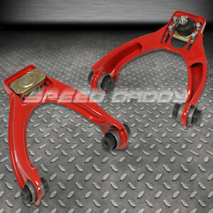 Adjustable Powder Coated Steel Front Camber Kits 96 00 Honda Civic Lx Ex Si Red