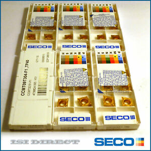 Ccmt 32 51 3251 F2 Tp40 Seco 10 Inserts Factory Pack
