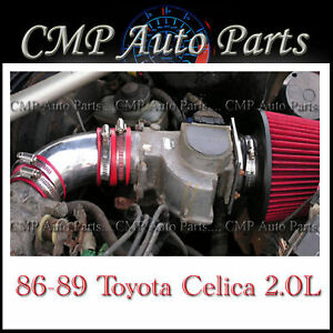 Red 1986 1989 Toyota Celica 2 0 2 0l 4 cyl Non turbo Air Intake