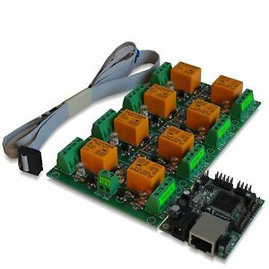 Eight 8 Channel Relay Module Board For Remote Control Lan Ethernet Snmp
