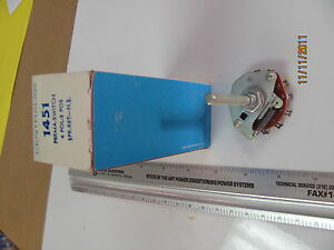 1x Electroswitch E3g0402n 1 4 Pole 2 Position Rotary Switch Nos Centralab 1451