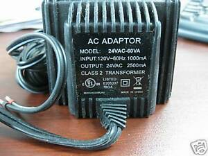 24v Ac 60 Watts 24 Volt 60vac 60va Power Supply Transformer Wall Plug Ul Listed