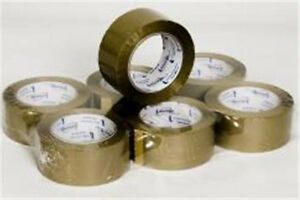 Tan Brown 2 0 Mil Packing Tape 2 X 110 Yd Roll case Of 6 Rolls Brand New