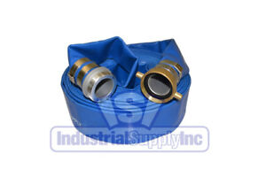 4 X 50ft Blue Water Discharge Hose Pin Lug