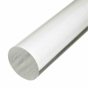 Clear Acrylic Perspex Round Rod Pmma Circular Bar 12 Long 3mm To 50mm Diameter