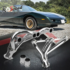 Stainless Steel Ss Exhaust Header Chevy 305 350 Cid Small Block Shorty V8 8cyl