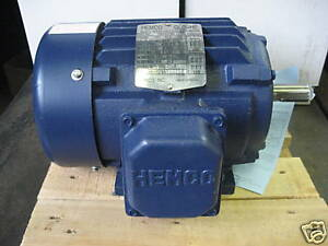 New 1 5 Hp Motor Hemco Cast Iron 3450rpm 3 Phase 143t Frame Eby152fba