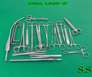 General Surgery Set Of 63 Surgical Instruments Ds 993