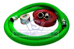 3 Epdm Mud Suction Hose Kit W 100 Red Discharge Camlock Hose fs