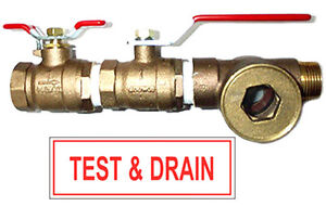 1 Fire Inspector Test Drain Valve With Sight Glass And Sign 1 2 Orifice
