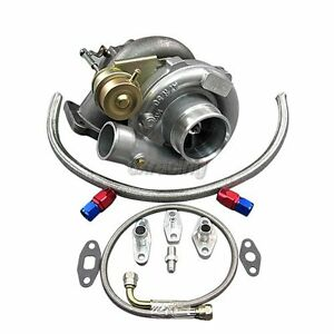 T61 Turbo Charger Oil Kit For Toyota Supra Mk3 Mk 3 7mgte Upgrade Ct26 Bolt On
