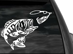 Fgd Bass Fishing Car Or Truck Vinyl Window Decal 12 X9