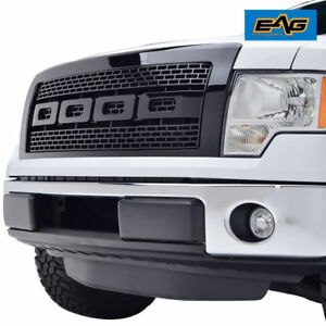 Eag Replacement Grille Front Hood Upper Grill Fit 09 14 Ford F150 Black