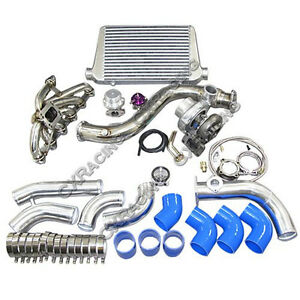 Cxracing Turbo Intercooler Piping Downpipe Kit For 84 91 Bmw E30 325 Gt35