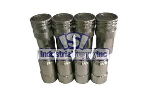 Quick Coupler Iso 16028 Flat Face 1 2 Npt High Flow Stucchi 4 Pack