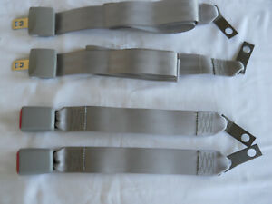 2 Sets Of Light Gray 2 Two Point Seat Belts Made By Trw To Oem Standards 60 New