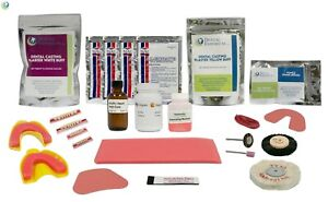Complete Quality Denture Repair Kit With 28 Denture Teeth No Instructions