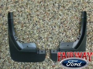 11 Thru 19 Fiesta Oem Genuine Ford Molded Splash Guards Mud Flaps Front Pair