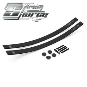 Add a leaf Kit For 73 87 Chevy Pickup Straight Axle 2 Lift Long Helper Springs