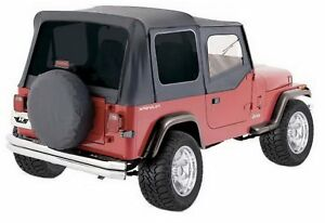 New Soft Top For Squared Half Doors By R 1988 1995 For Jeep Wrangler Yj