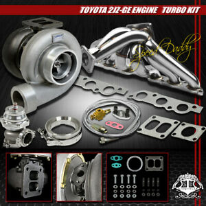 Gt45 5pc Turbo Kit Turbocharger Manifold wg 93 98 Supra Mk iv 01 05 Is300 2jzge