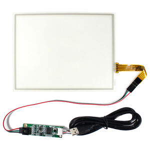 8 4 Wire Resistive Lcd Touch Panel With Usb Controller Card For 4 3 Lcd Screen
