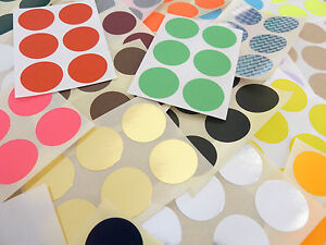 25mm 1 Inch Round Stickers Coloured Circles Circular Sticky Labels 36 Colours