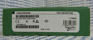 140 avo 020 00 Tsx Quantum Analog Out 140avo02000 Output Module 4 Ch Volt