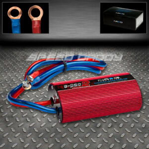 Universal Nrg Battery Electronic Efficiency Voltage Stabilizer Regulator Jdm Red