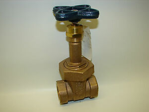 new Nibco Bronze 1 Threaded Gate Valve T 134 1 150swp 300cwp 1 Inch