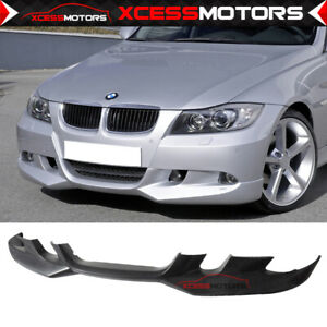 Fit 06 08 Bmw E90 3 Series Ac S Style Front Bumper Lip Unpainted Poly Urethane