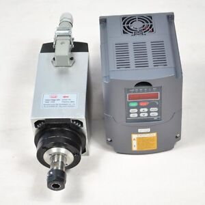 Four Bearing 4kw Air cooled Motor Spindle And Matching Inverter Drive Vfd Cnc