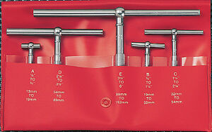 Starrett Series 229 Telescoping Gage 5 Pc Set New