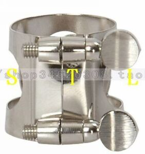 5 pcs Bb soprano Clarinet metal ligature Nickel plated Clarinet parts