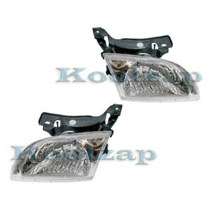 00 02 Chevy Cavalier Headlight Headlamp Head Light Lamp Left Right Side Set Pair