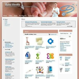 Established Baby Health Store Business Website For Sale Work At Home Free Domain