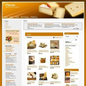Established Cheese Gourment Online Business Website For Sale Free Domain Name