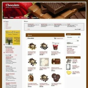 Established Chocolate Store Online Business Website For Sale Free Domain Name