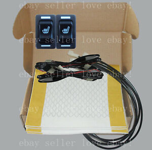 Hi off lo Rectangle Switch Seat Heater 2 Seats Heated Seat Kit fit All 12v Cars