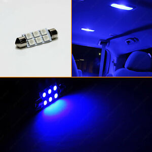 Blue Dome Map 12v 6 Smd Interior 42mm 1 75 Festoon Led Light Bulb 211 2 212 2