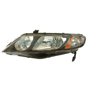 06 11 Civic Hybrid Sedan Headlight Headlamp Head Light Lamp Left Driver Side L