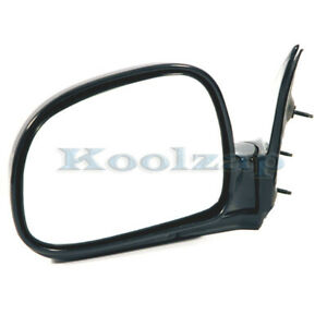 94 97 Chevy S10 Pickup Truck Manual Black Rear View Door Mirror Left Driver Side