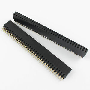 50pcs 2 54mm 2x32 Pin 64 Pin Female Double Row Straight Pin Header Strip Pc104