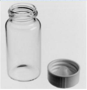 20x Lab Chemical Sample Glass Bottle Vial Anti corrosion Hdpe Air Tight Lid 20ml