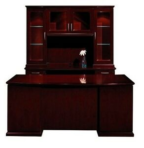 New Emerald Executive Office Desk With Credenza And Hutch Set