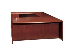 New Ruby Bowfront U shape Executive Office Desk