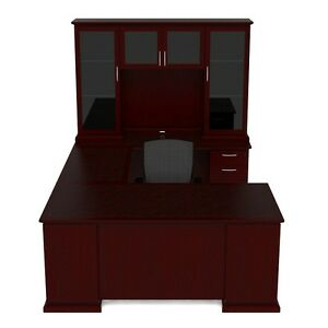 New Emerald Executive U shape Office Desk With Hutch